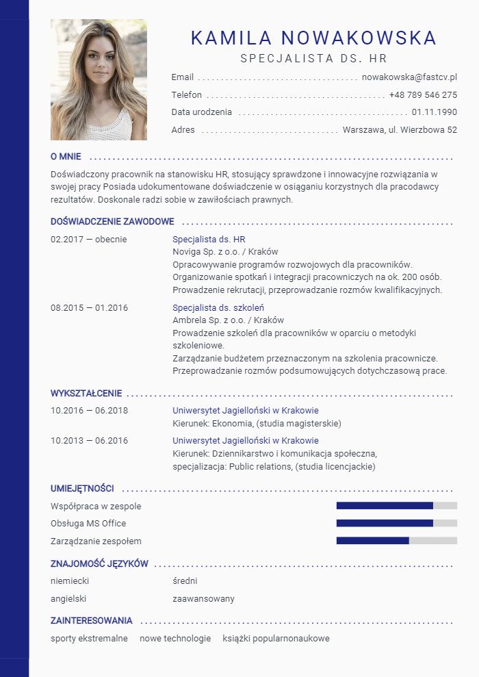 Kreator CV Online - darmowe i profesjonalne szablony CV